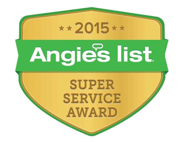 2015 Angie's List Super Service Award Winner