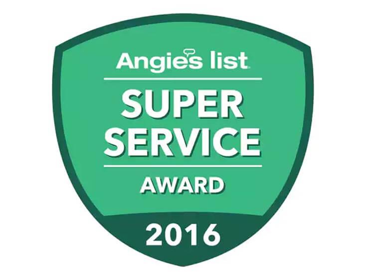 2016 Angie's List Super Service Award Winner