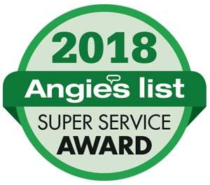 2018 Angie's List Super Service Award Winner