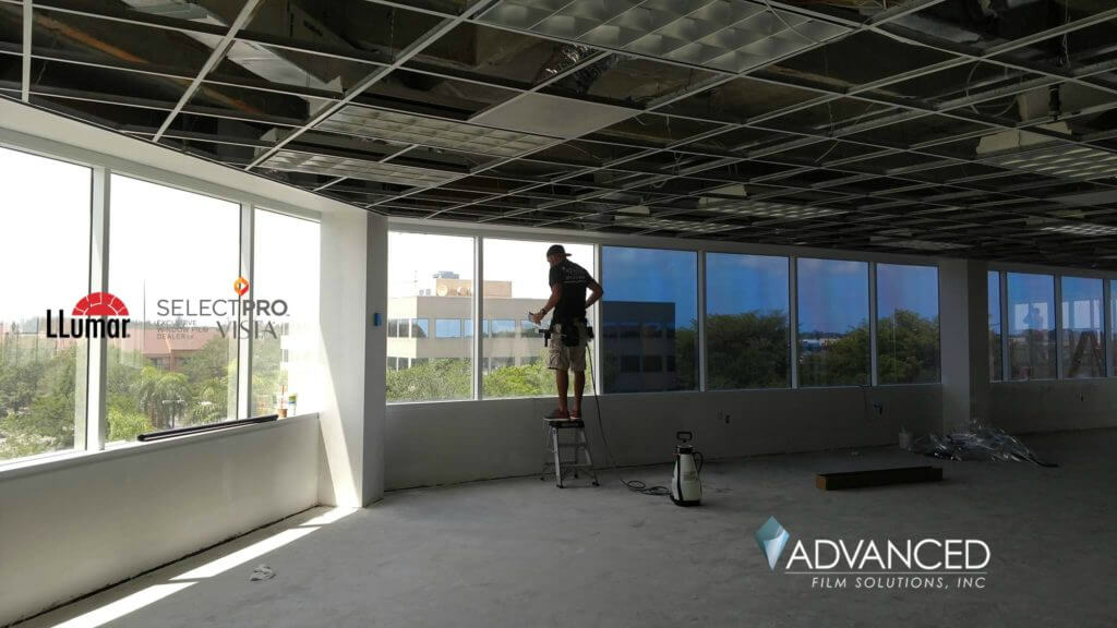 Commercial office window film