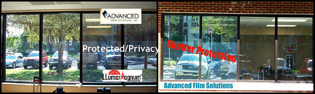 Shatter window film