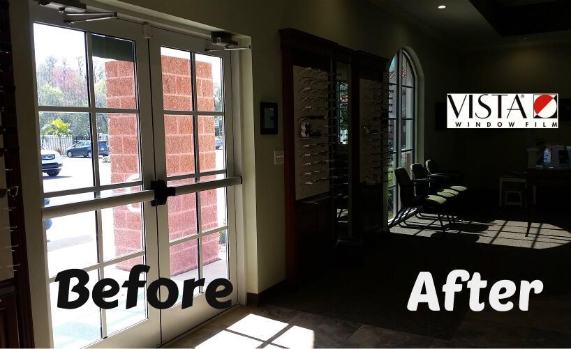 Glare free window film