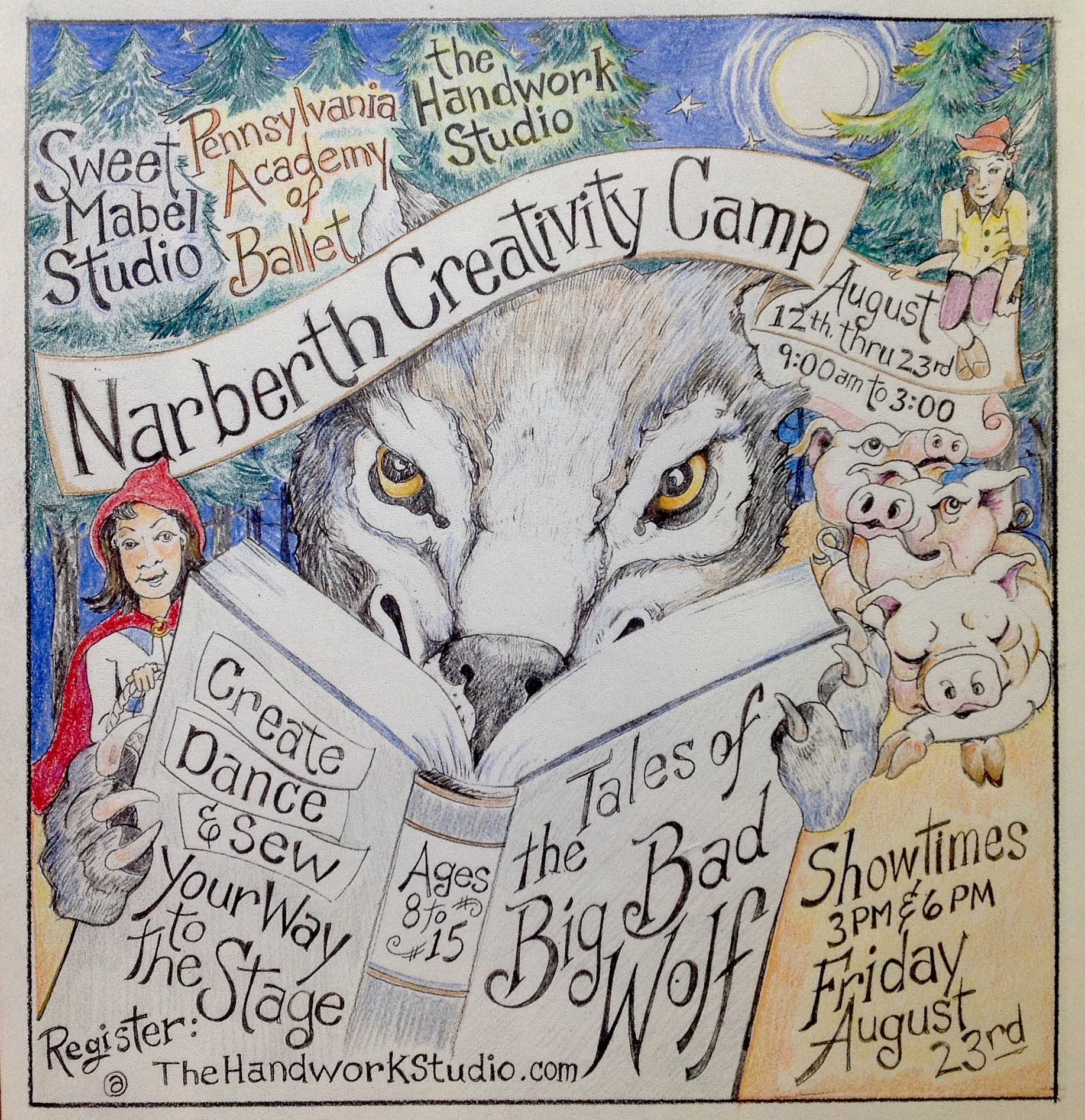 Narberth Creativity Camp, 2-week session 8/12-8/23, 9am-3pm @ Sweet Mabel Studio