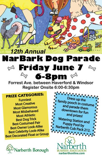 NarBark Dog Parade @ Downtown Narberth PA