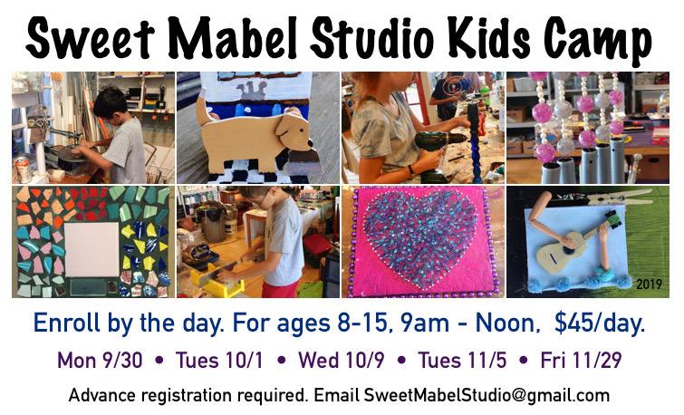 Kids Studio Camp, ages 8-15 @ Sweet Mabel Studio