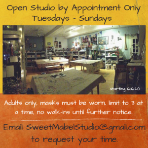 Open Studio by Appointment Only 12-8