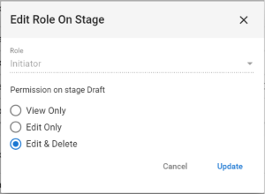 Workflow Secuirty Edit Role on Stage