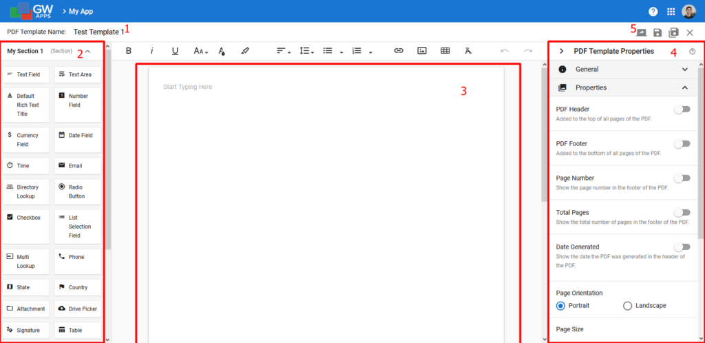 PDF Template Editor