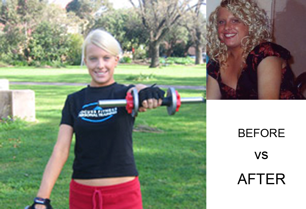 St Kilda Mobile Personal Trainer, Rocco Sorace helped client- Louise reached her goal. Going from a Size 14 to a Size 8 in just 12 weeks.