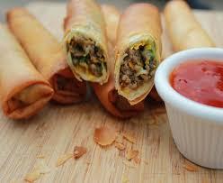 Vegetarian 2 spice Mushroom Spring Roll Recipe