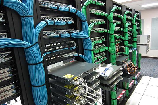 tv installation data & network server