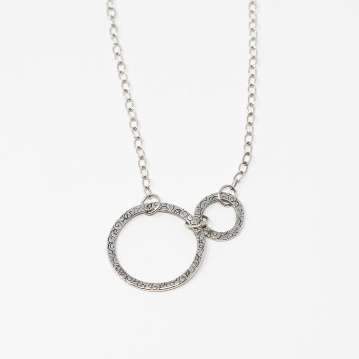Soul Connection necklace, sterling silver, circle jewelry