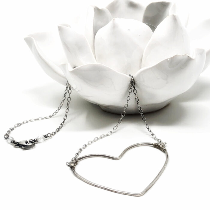 Big heart necklace in sterling silver