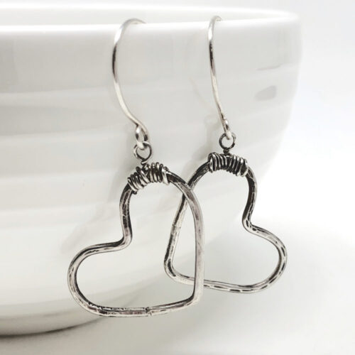 Big heart earrings in sterling silver