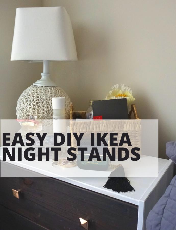 DIY: Mid Century Modern(ish) Night Stands