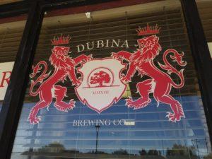DUBINA signage