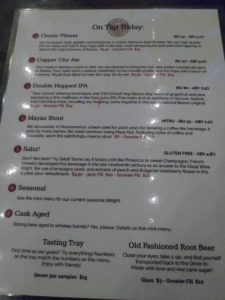 OLD BISBEE Beer Menu 5 19