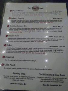 OLD BISBEE Beer Menu 5 19