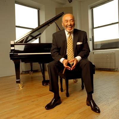 Eddie Palmieri with Cigar-Piano