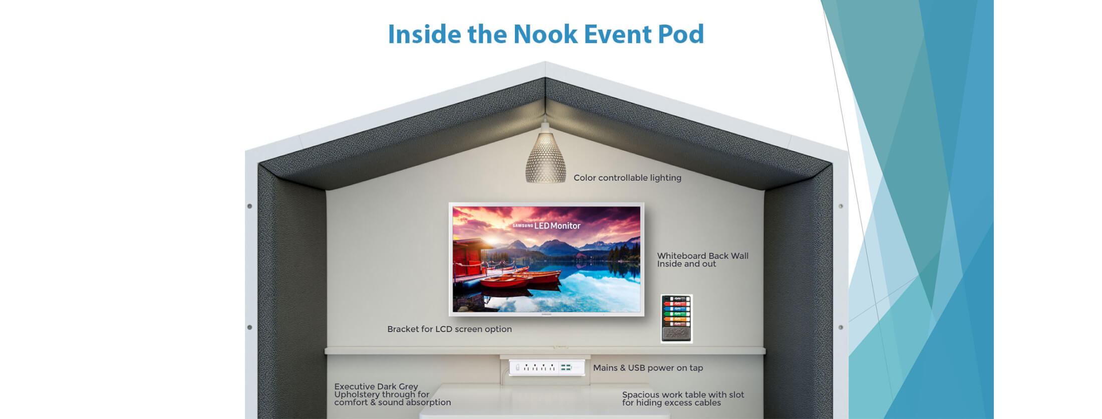 Inside the Nook Event Pod
