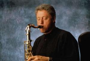 Bill Cliniton on Sax