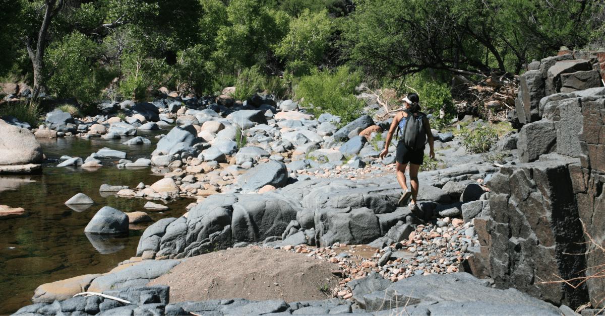 hike virginia water stream