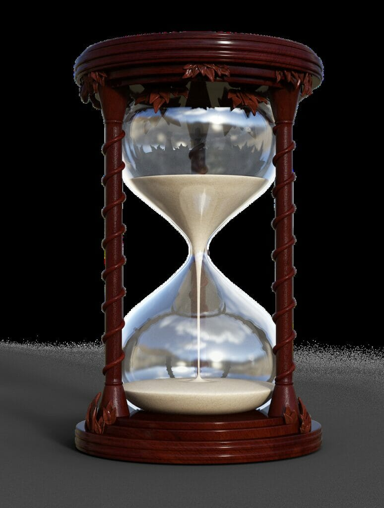 hourglass, timepiece, flow of time