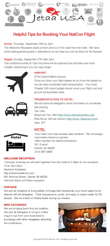 JETAA NatCon Travel Information