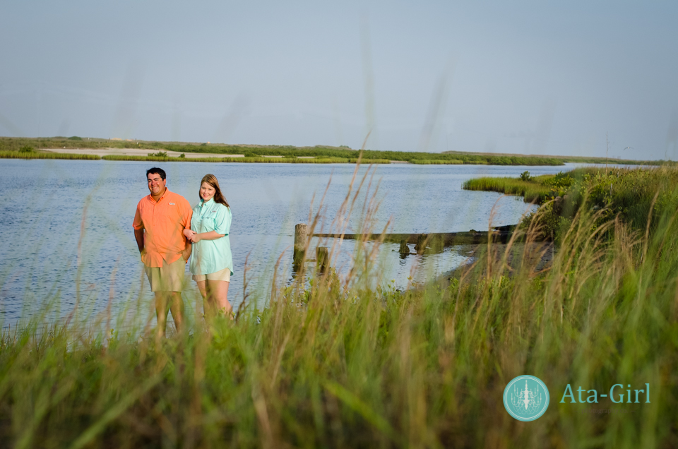 texas beach engagement session