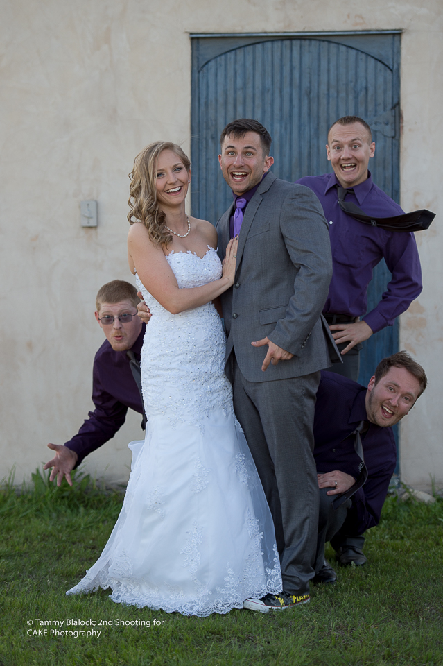 formal family portraits on wedding day