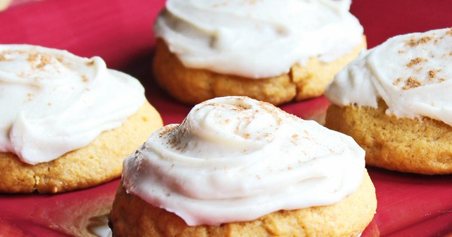 Frosted Pumpkin Cookies-Delicious!!