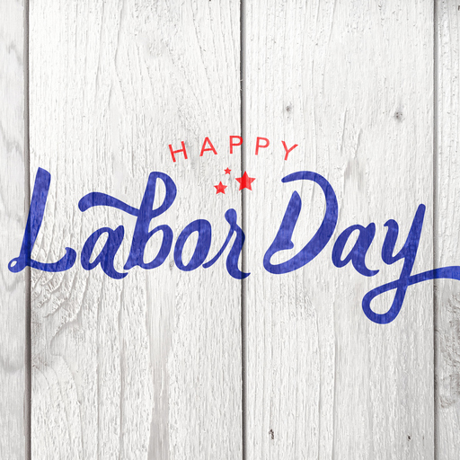 Happy Labor Day Typography Over Wood