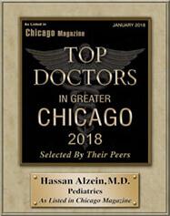 Chicago Magazine Top Doctor 2018 Alzein Pediatrics