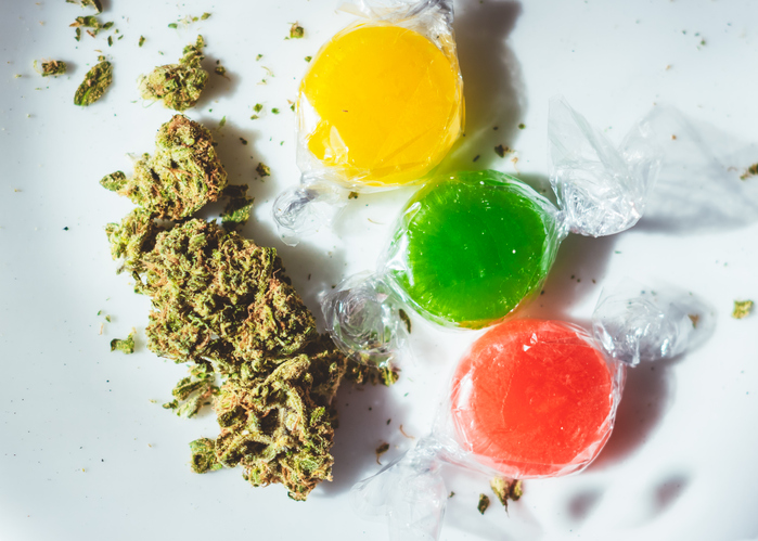 Marijuana infused hard candies