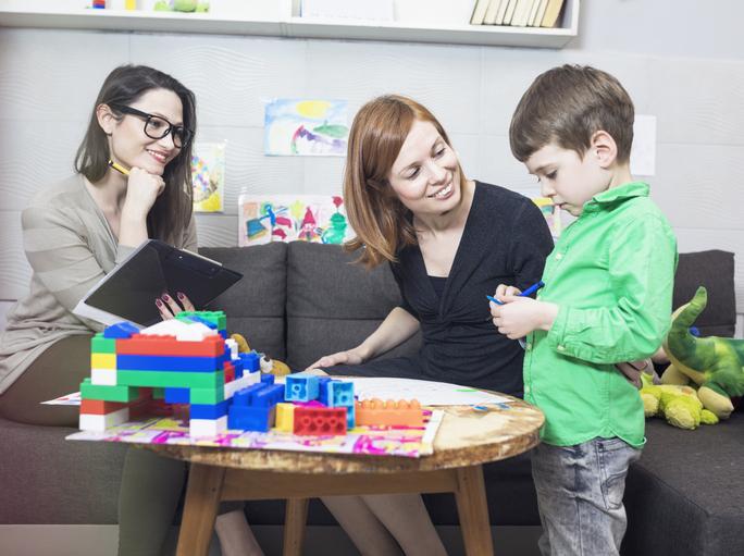 Child psychologist at work
