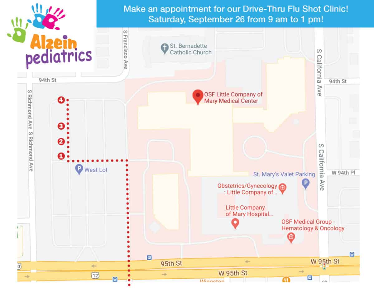 map for flushot clinic
