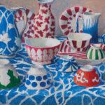 "Striped Bowls, London by Kaffe Fassett - 16"" x 20"""