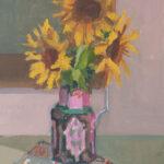 "Sunflowers, Overcast Day - 14"" x 11"" - Acrylic on Canvas - Erin Lee Gafill"