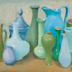 Holly's Vases, Blue and Green by Kaffe Fasset