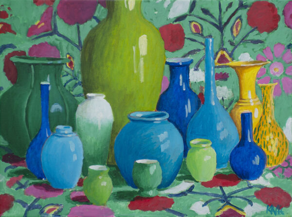 Study in Green and Blue by Kaffe Fassett