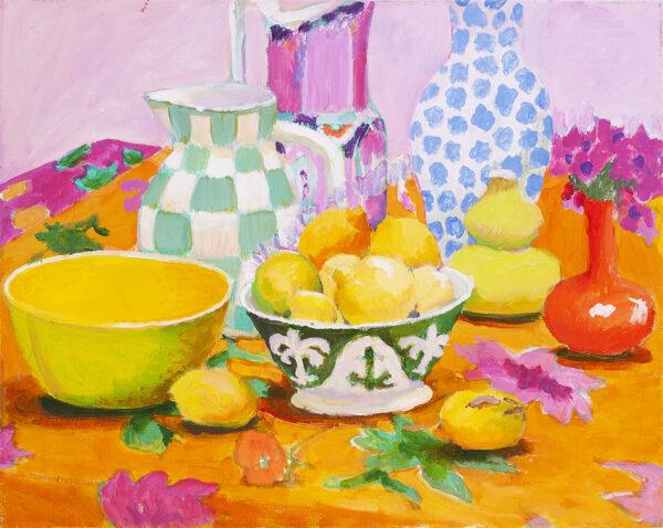 Bowl of Lemons by Kaffe Fassett