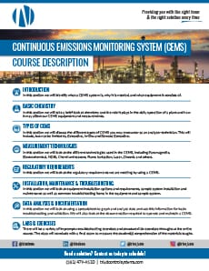 Triad Control Systems CEMS Course Description