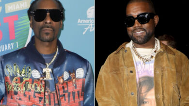 Photo of Watch! Snoop Dogg Links Up With Kanye And Dr Dre In Studio!
