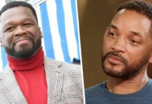 Photo of 50 Cent & Will Smith Beef Over Jada, Will gives 50 Cent The Middle Finger