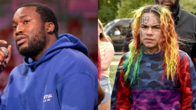 Photo of Twitter Users React To Meek Mill's & Tekashi 6ix9ine Valentine's Day Confrontation