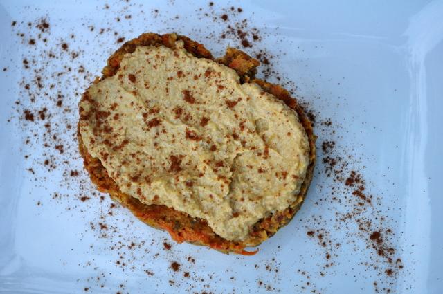 Raw (and Paleo) Pumpkin Spiced Carrot Cake with Walnut Pumpkin Frosting -whatrunslori.com