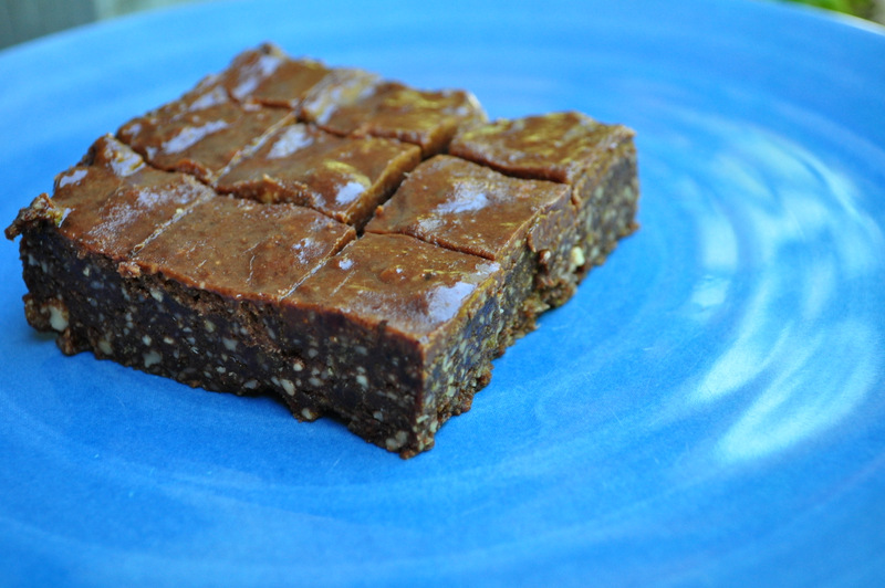Raw Chocolate Frosted Brownies