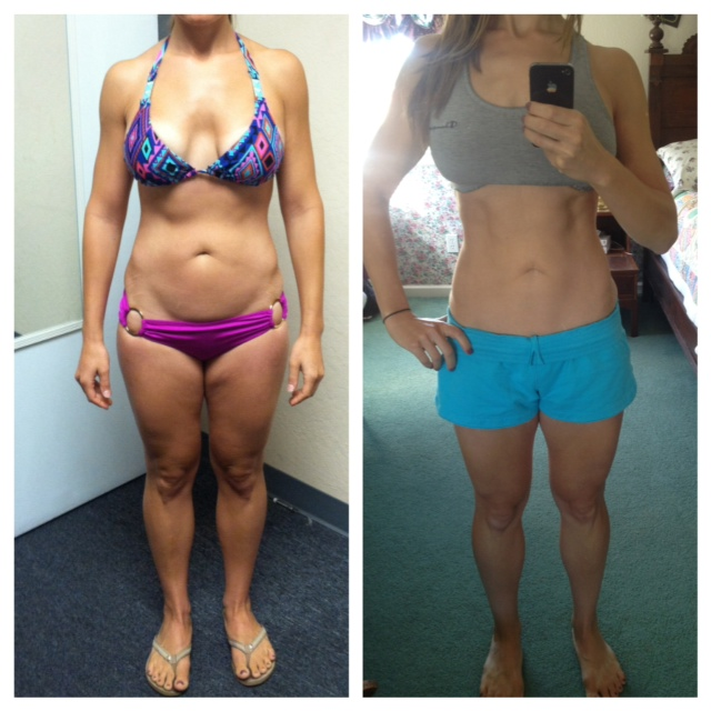before and after 3 week diet