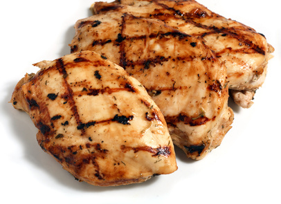 Grilled herbed chicken breasts