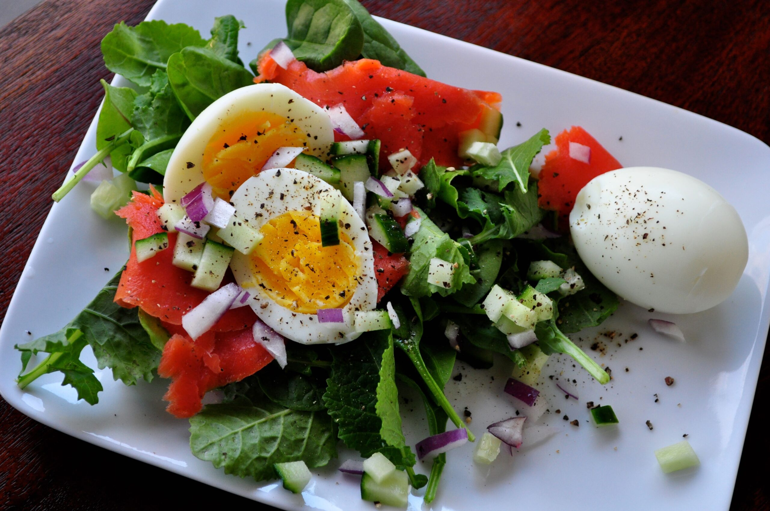 Hard-Boiled Eggs & Smoked Salmon Breakfast